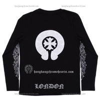 Chrome Hearts Cotton T-shirt with White Leather Horseshoes Discount