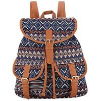 Orlyvrie School Bag Bohemian Vintage Women Backpack Drawstring Printing Canvas Bagpack Sac a Dos Femme Rucksack Female $85.75