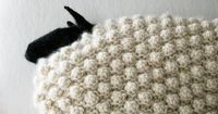 Bobble Sheep Pillow | The Purl Bee Now I know what I'm going to do with all that white yarn
