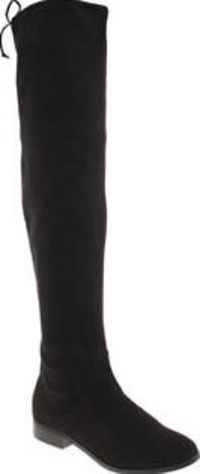 Schuh Black Sprinter Womens Boots The over-the-knee boot silhouette continues to be major for A/W, make sure youre ready to take on the new season in style, with the Sprinter from schuh. The black faux-suede design is complete with an http://www.comparest...