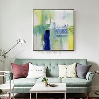 Modern art abstract Painting on canvas Original texture agate acrylic blue painting large art wall pictures home decor cuadros abstractos $140.00