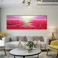 Oil painting abstract paintings on canvas Water lilies Original art flower paintings hand painted Wall picture Home Decor cuadros abstractos $99.00