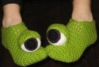 #Crochet a pair of slippers for everyone in the family. After a long day at work you just want to sit and relax. This is a great way to keep your feet happy.