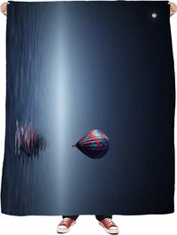 Hot Air Balloon Fleece Blanket $65.00