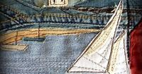 #Denim #quilts and #embroidery.