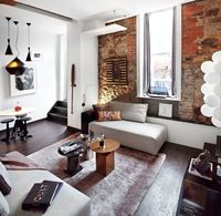 StephaneChamard - desire to inspire - desiretoinspire.net / oversized ottoman in place of couch? I like it.