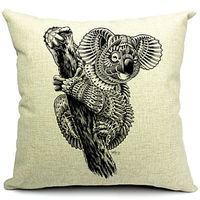 Animal Cotton/Linen Decorative Pillow Cover