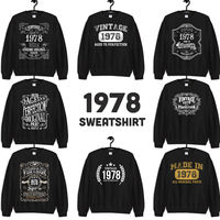 1978 Birthday Gift, Vintage Born in 1978 Sweatshirts for women men, 42nd Birthday, Made in 1978 Sweatshirt Custom 42 Year Old Birthday Shirt $19.99