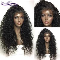 Dream Beauty Remy 130% Glueless Pre Plucked Lace front Human Hair Wigs Curly Wig peruvian Human Hair With Baby Hair $301.11