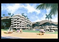 postcard from Sheraton Hotel- Kaanapali Beach, Maui, Hawaii. Built in 1963, the Sheraton was the first Maui resort to be built on prime location on Ka`anapali Beach. It was completely rebuilt in 1996.