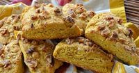 Here's the ultimate pumpkin-walnut scones. Add pumpkin & warm spices, top with walnuts, and you've got a recipe you'll be making for the rest of your life.