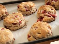 Strawberry Scones with Almond Glaze
