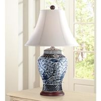 Shonna Blue and White Porcelain Jar Table Lamp