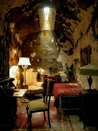"""Eastern State Penitentiary - Al Capone's Cell - Legendary gangster Al Capone's """"Park Avenue"""" cell at Eastern State Penitentiary in Philadelphia, where he did an eight-month stretch for carrying a concealed weapon. This happened shortly aft..."""