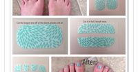 Pedicure using just two Jamberry nail wraps. www.abfullhart.jamberrynails.net