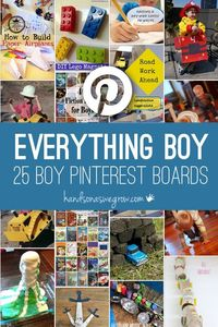 A collection of the best places to find everything for boys on Pinterest. Focused on different areas of activities that boys just love to take part in!