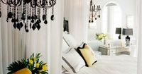 love the black chandelier
