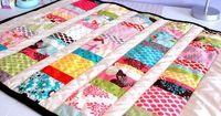 Baby Quilt by The Delighted Life (link to tutorial on blog)