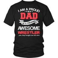 Dad Wrestling Shirt, Wrestling T-Shirt, Proud Dad Of An Awesome Wrestler, Gift for Dad, Gift for Father, Dad Shirt, Father Shirt $20.99