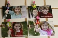 "Valentine's gift for classmates- picture of your kid ""holding"" a lollipop- too cute!"