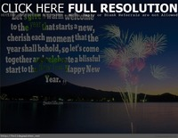 Celebrate happy new year quote with image