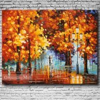Late Autumn Hand Painted On Canvas Oil Painting
