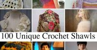 100 unique crochet shawls