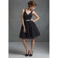 Charming A-line Straps V-neck Beading Lace Above Knee-length Bridesmaid Dresses - Dressesular.com