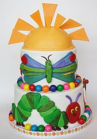Very Hungry Caterpillar cake (and cute cake pops in the post)