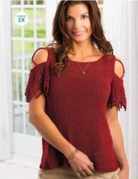 COLD-SHOULDER TEE- FREE KNITTING PATTERN