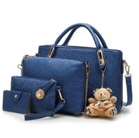 Fashion Pu Leather Cute Womens Bags Set