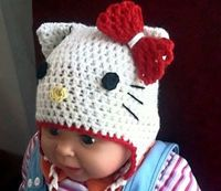 Hello Kitty Hat CROCHET PATTERN, Spiderman Hat, Owl Hat, Mickey / Minnie Mouse Hat, Strawberry Hat, Beanie and Earflap, Newborn to Adult