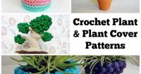 Whether you've got a green thumb or can't keep a plant alive, these patterns will breathe life into your home or office! Plant covers slip right over those boring old store-bought pots, and faux plants need no upkeep. We bet one of these crocheted...