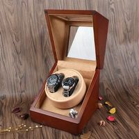 2 Slots Coffee Watch Winder Automatic Wood Gift Case $255.99