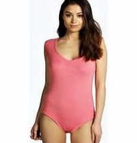 boohoo Sleeveless Bodysuit - coral azz08706 Make your top pop this season with sporty, baseball-style basic tees in quilted finishes with ribbed, stripe trims. Crew necks come in block colours, crop tops with mesh inserts and long sleeve jersey http://www...