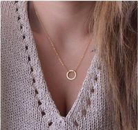 Gold Karma Necklace Circle Pendant Necklace Maxi Statement Chokers Necklaces For Women Jewelry $9.99