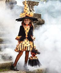 Look at this #zulilyfind! La-Dee-Dots Witch Dress - Girls by chasing fireflies #zulilyfinds