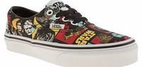 Vans kids vans multi era star wars unisex junior Jedi training for kids is a breeze with a pair of Era plimsolls on their feet. The Vans x Star Wars collaboration delivers this comic book style printed upper of the films characters on a black canvas http:...