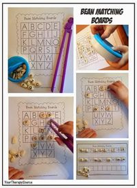 OT Activity of the Week: Fine Motor Bean Matching Boards - pinned by