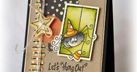 Pickled Paper Designs: Hang Out Spider card by Amy Sheffer using sketch from I {heart} 2 stamp