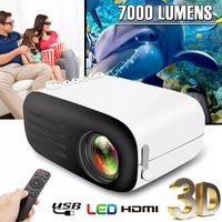 YG200 Black Portable Mini 1080P HD Video Projector LED Home Theater Cinema USB HDMI