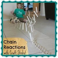 Did you know that you can build an exploding chain reaction by weaving popsicle or craft sticks together?