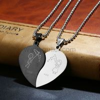 Gullei.com Love you Matching Half Hearts Pendants for Girlfriend Boyfriend https://www.gullei.com/couples-gift-ideas/matching-couple-necklaces.html