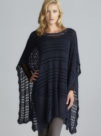 crochet poncho, knit poncho and crochet cotton.