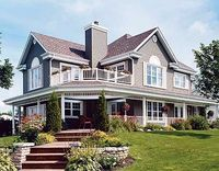 Great porch. With floor plan. From: http://www.architecturaldesigns.com/house-plan-2118DR.asp