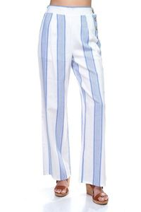 Women's casual pants Multi Stripe Side Button Pants $30.00