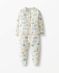 Disney Winnie The Pooh Sleeper With Feet In Organic Pima Cotton