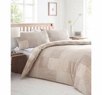 Bhs Neutral Montanna printed bedding set, stone Textured neutral check printed bedding set. Our essentials printed bedding range is now made using a new and improved quality 50/50 polycotton as well as becoming better value.Fibre Composition: 50% c ht...