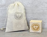 Heart Rubber Stamp: Wood Mounted - Love, Wedding, Engagement, Save the Date, DIY Gift Wrap, Red