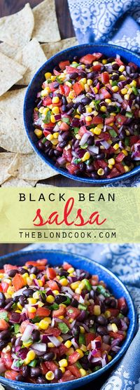 A hearty and healthy recipe for black bean salsa.